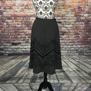 Ann Taylor Loft A-line Embroidery Skirt women's 8p